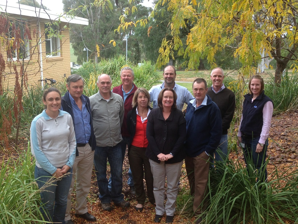 Representatives of the Chiltern and Holbrook EverGraze team and regional group, April 2013.