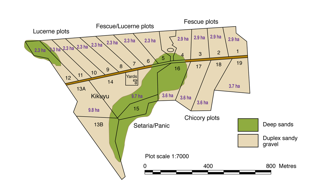Figure 1. Soil map of the Albany Proof Site