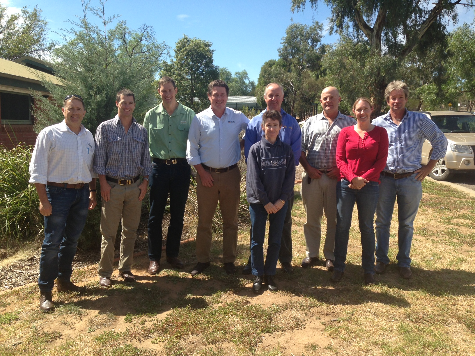 Members of the Wagga Wagga EverGraze Regional Group, March 2013
