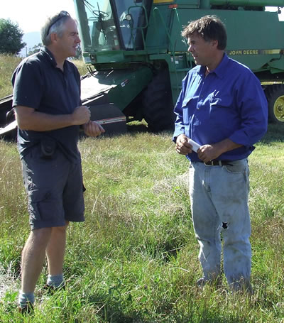 TIAR Research Agronomist, Eric Hall (left) and Humberston McKenzie (right)