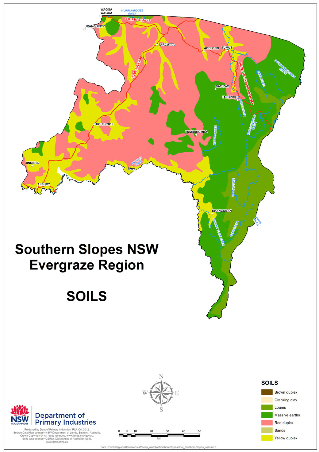 Figure 2. Soils of Southern Slopes NSW.
