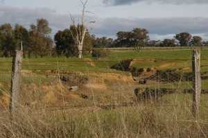 Wind and water erosion in East Gippsland.