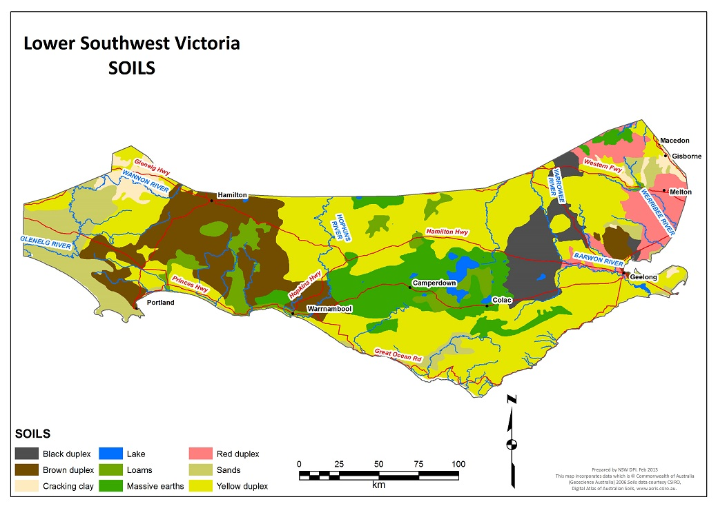 Figure 1. Soils of south-west Victoria (Lower).