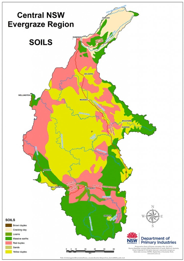 Figure 1. Soils of the Central Tablelands NSW region